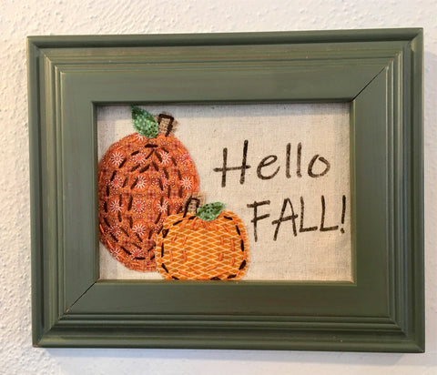 Hello Fall appliqued pumpkins at Art 2 Heart in Hamel MN