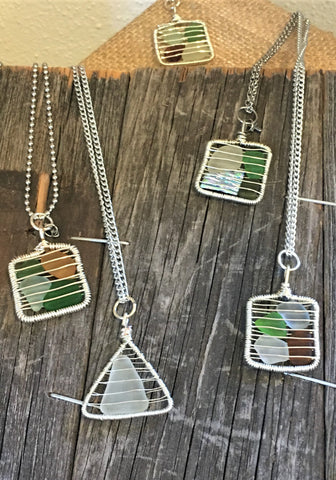 Sea Glass Pendants at Art 2 Heart in Hamel MN
