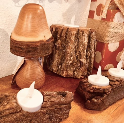 Maple Mushrooms and Driftwood Candle Holders from Art 2 Heart