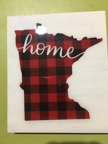 MN Home Trivet from Art 2 Heart Gift Shop in Hamel MN