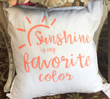 Sunshine Pillow at Art 2 Heart