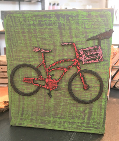 Bicycle art block from Art 2 Heart in Hamel MN