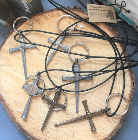Nail Cross Pendant or Key Ring from Art 2 Heart in Hamel MN
