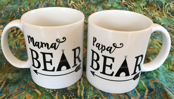 Coffee Mugs for the New Mama and Papa from Art 2 Heart Gift Shop in Hamel MN