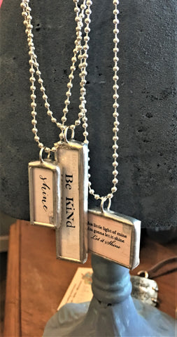 Word Necklaces on Silver Chains at Art 2 Heart in Hamel MN