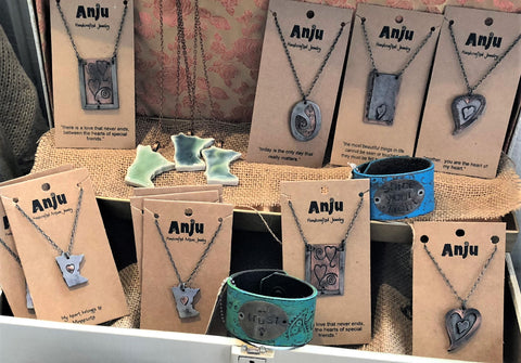 Necklaces and Leather Cuffs at Art2Heart in Hamel MN