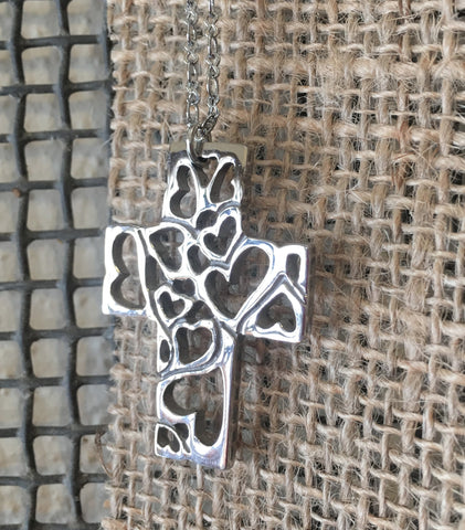 Silver Filligree Cross Necklance at Art 2 Heart in Hamel MN