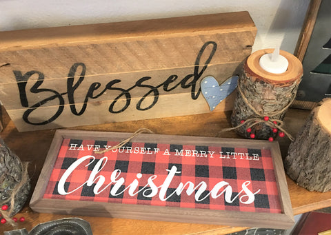 Christmas signs from Art 2 Heart Gift Shop in Hamel MN