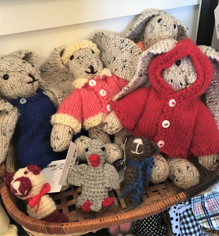Cuddly bears and bunnies at Art 2 Heart Gift Shop in Hamel MN