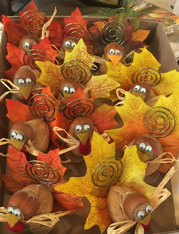 Placecard holders for your Thanksgiving table from Art 2 Heart Gift Shop in Hamel MN