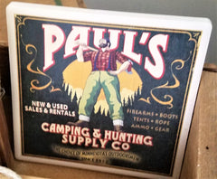 Paul Bunyan tile coaster at Art 2 Heart Gift Shop in Hamel MN