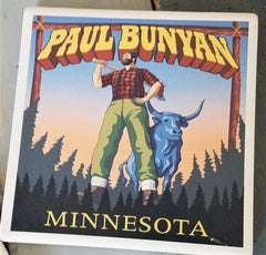 Paul Bunyan & Babe tile coaster at Art 2 Heart Gift Shop in Hamel MN