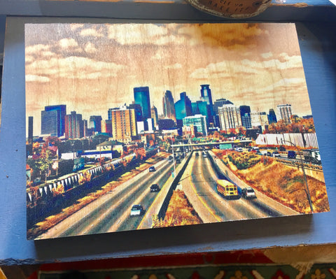 MN Photos on Wood at Art 2 Heart Gift Shop in Hamel MN