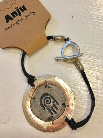 Leather & Metal bracelet at Art 2 Heart Gift Shop in Hamel MN