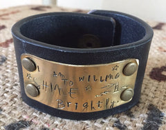 Oct 6 Class on Upcycled and Inspirational Leather Cuff Bracelet