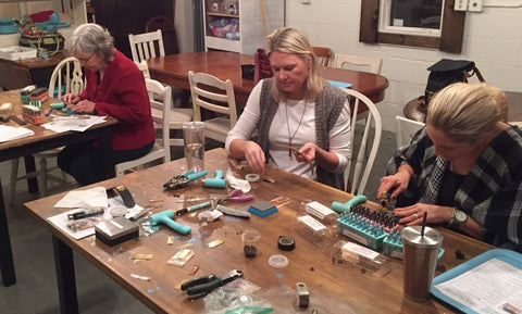 Leather Cuff class at Wonderfully Made in Hamel MN