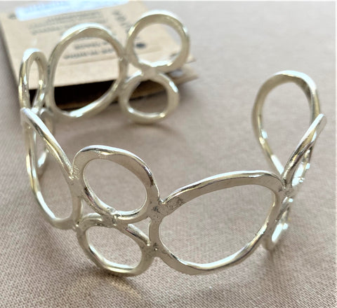Silvery Circles Bracelet from Art 2 Heart Gift Shop in Hamel MN