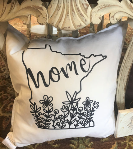 MN HOME Pillow from Art 2 Heart Gift Shop in Hamel MN