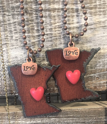 MN metal pendants from Art 2 Heart Gift Shop in Hamel MN