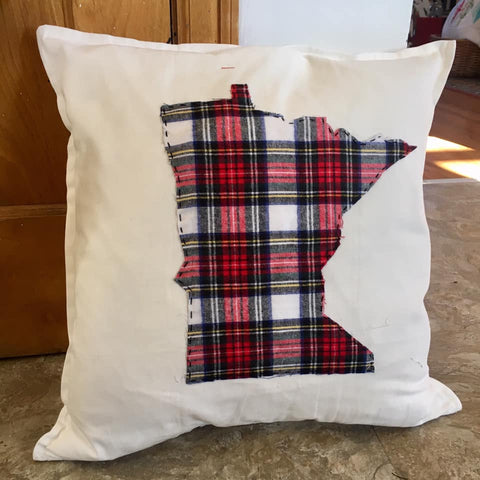 Plaid MN toss pillow from Art 2 Heart in Hamel MN