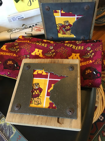 MN Gophers wood-metal art block at Art 2 Heart Gift Shop in Hamel MN