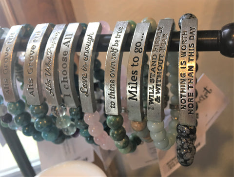 Message Bracelets at Art 2 Heart Gift Shop in Hamel MN