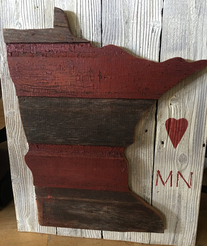 Minnesota wood art for your wall from Art 2 Heart