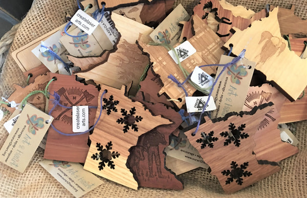 Wooden MN Ornaments