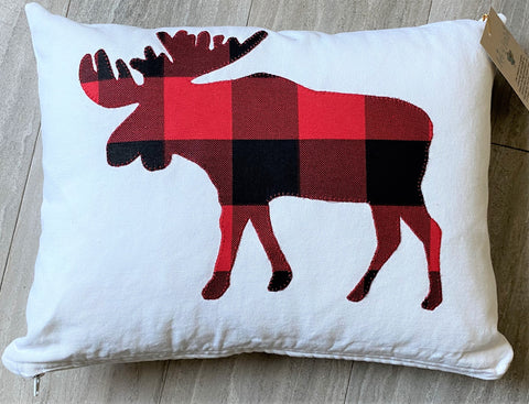 Buffalo Plaid Moose Toss Pillow available at Art 2 Heart Gift Shop in  Hamel MN
