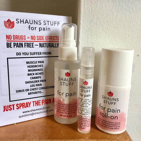 Shauns Stuff for Pain - natural pain relief - from Art 2 Heart Gift Shop in Hamel MN