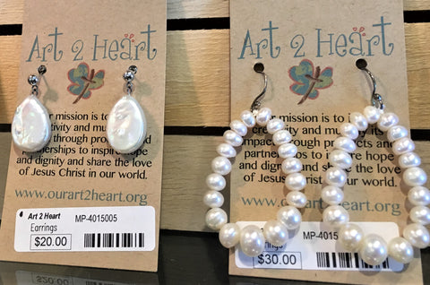 Pearl Earrings for the Bride at Art 2 Heart in Hamel MN