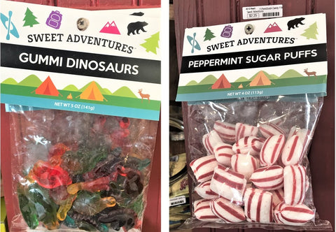Gummi Dinosaurs and Peppermint Puffs at Art 2 Heart Gift Shop in Hamel MN