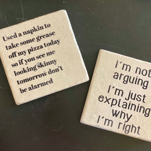cute coasters at Art 2 Heart Gift Shop in Hamel MN