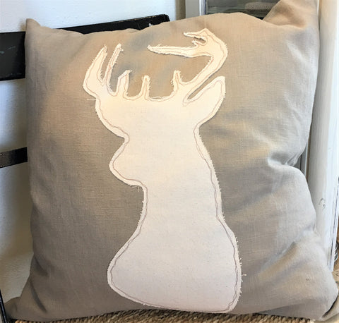 Deerhead Pillow from Art2Heart in Hamel MN