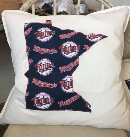MN Twins Toss Pillow 20x20 at Art 2 Heart Gift Shop in Hamel MN