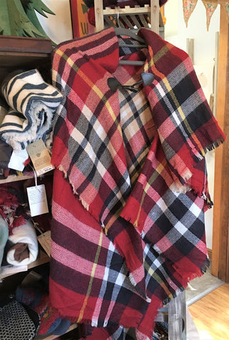 Plaid poncho at Art 2 Heart in Hamel MN