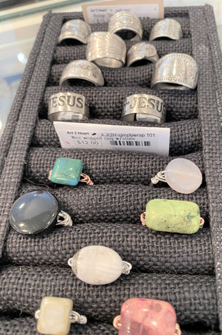 Rings available from Art 2 Heart Gift Shop in Hamel MN