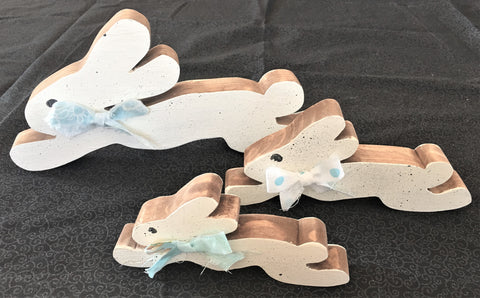 Set of 3 Running Bunnies from Art 2 Heart Gift Shop in Hamel MN