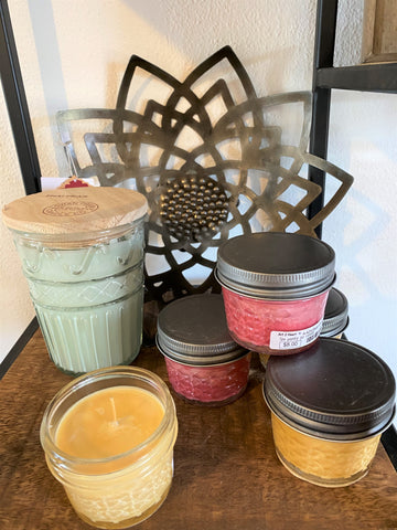 scented candles in jars at Art 2 Heart Gift Shop in Hamel MN