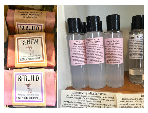 Soap and Facial Skin Care at Art 2 Heart Gift Shop in Hamel MN
