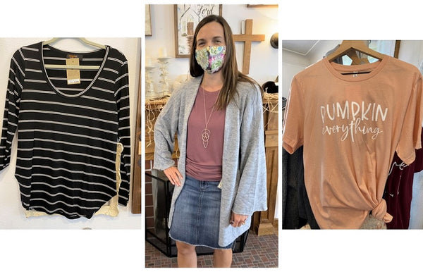 Cozy Cardigans and T-shirts now at Art 2 Heart Gift Shop in Hamel MN
