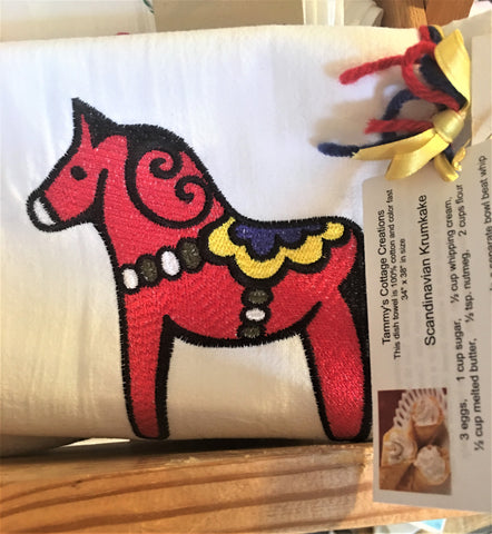 Dala Horse Tea Towel from Art 2 Heart in Hamel MN