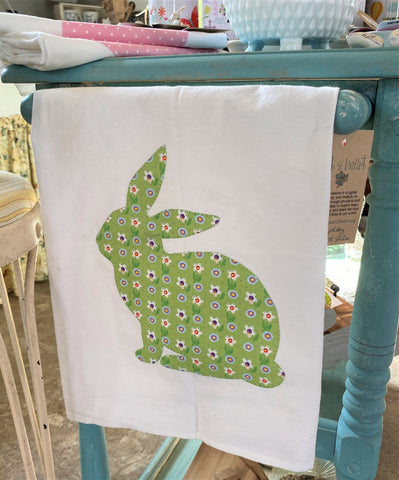 bunny tea towel from Art 2 Heart Gift Shop in Hamel MN