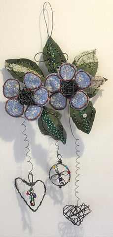 Fabric and Wire Flower Mobile from Art 2 Heart Gift Shop in Hamel MN