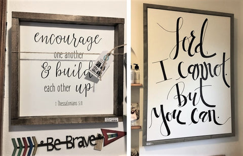 Words on Wood for your walls from Art 2 Heart Gift Shop in Hamel MN
