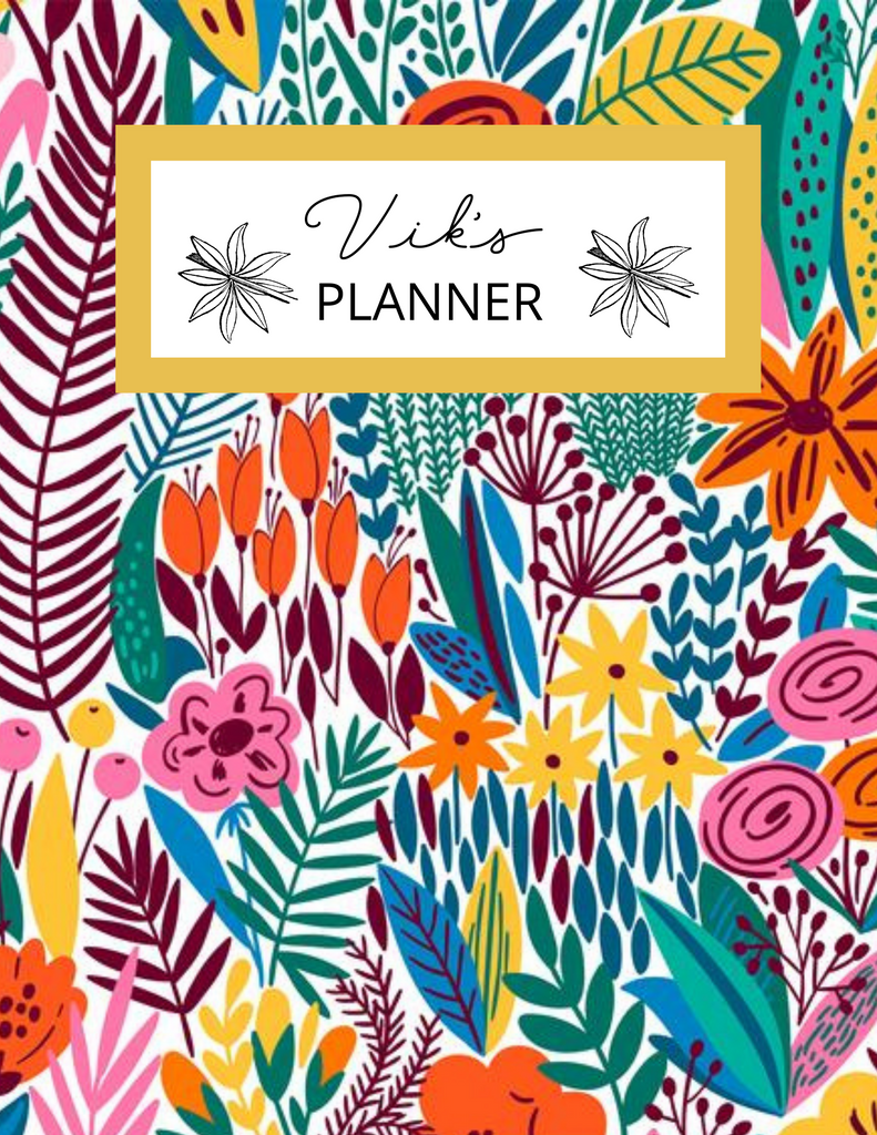 Floral Mommy Planner