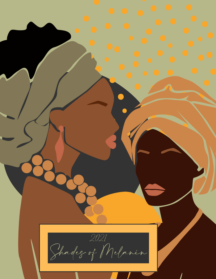 Shades of Melanin 2021 Monthly Wall Calendar