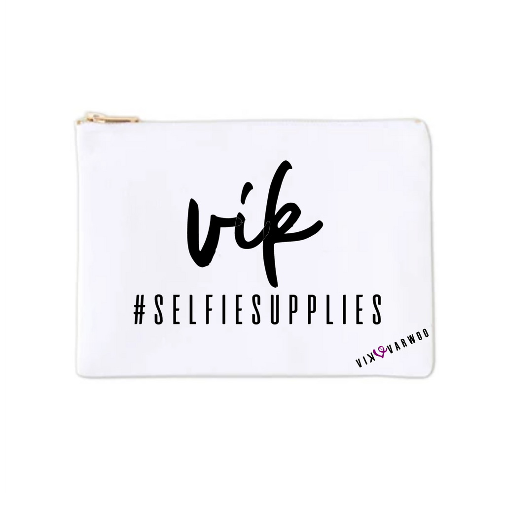 Custom #SelfieSupplies Beauty Bag