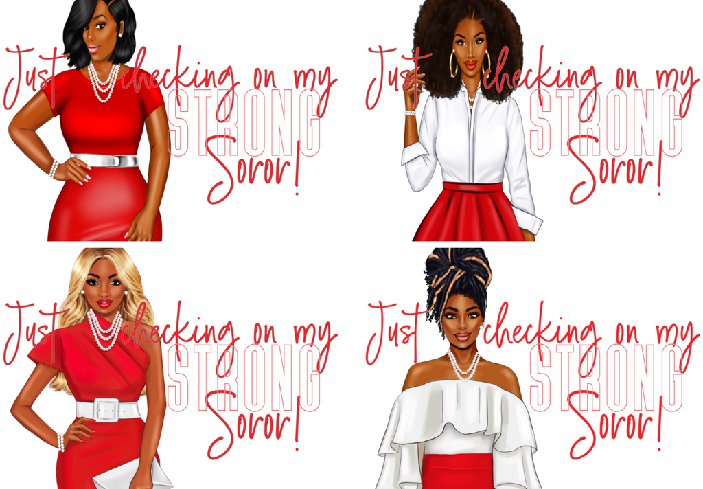 Checking on my Strong Soror Notecard Set