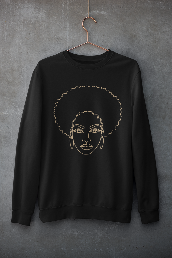 Afro Lady Sweatshirt